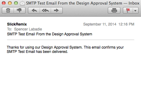 SMTP confirm email