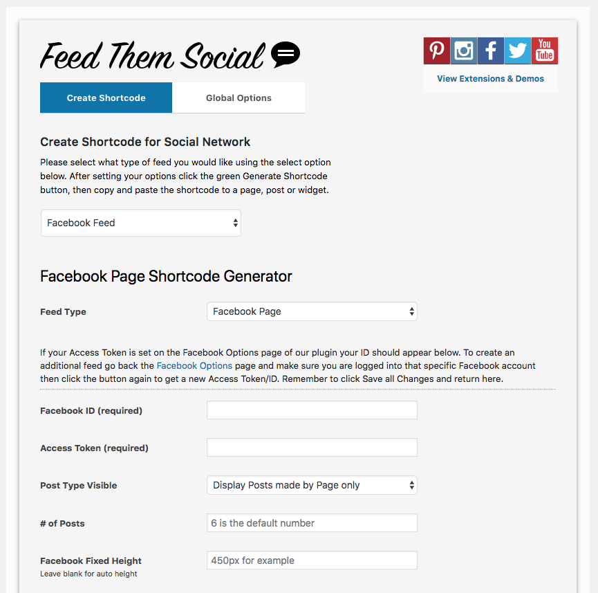 Feed Them Social - Premium Extension