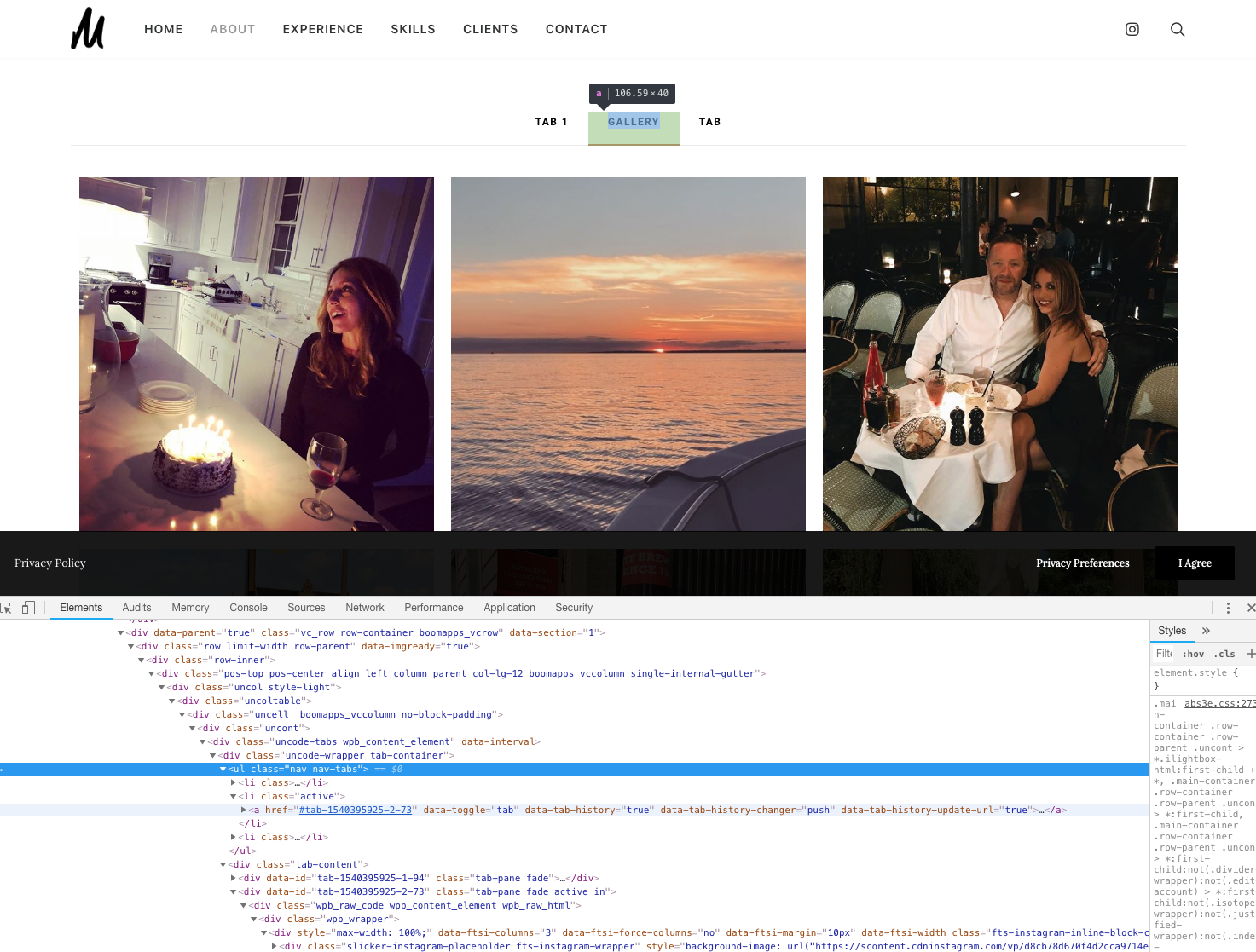 JS: Instagram Feed in Tabs | SlickRemix